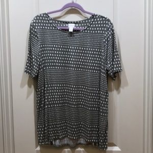 Short sleeve polka dot tunic